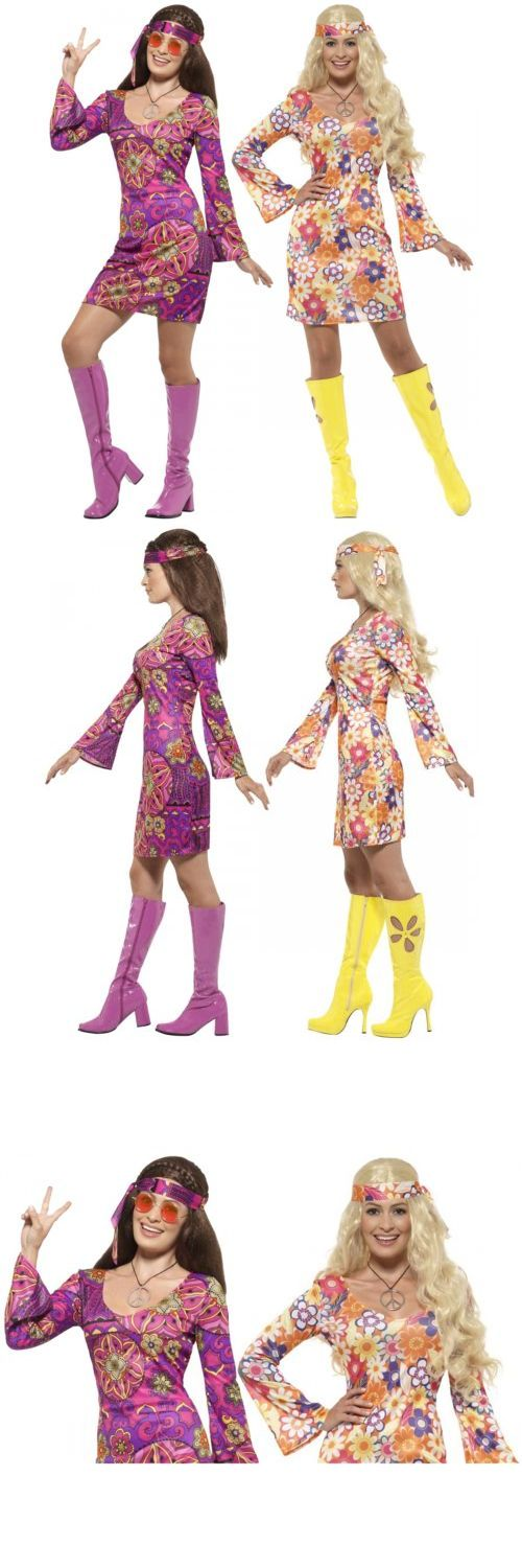 Women Costumes: Hippie Costume Adult 60S 70S Girl Halloween Fancy Dress -> BUY IT NOW ONLY: $17.49 on eBay!