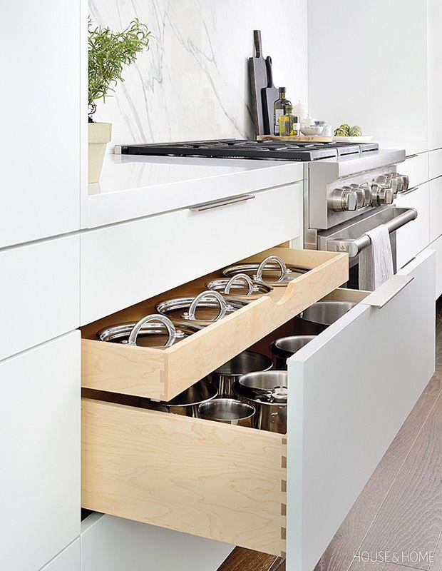This Indoor Outdoor Kitchen Is Made For Warm Spring Days Indoor Outdoor Kitchen Outdoor Kitchen Design Pot Storage