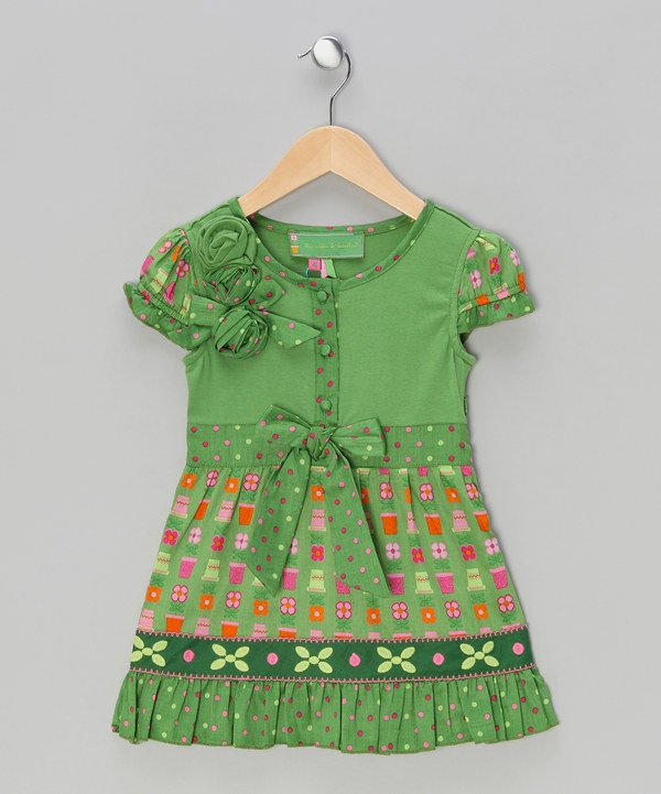 Take a look at this Green Alicin Dress on zulily today!