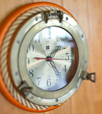 Porthole Clock - A must-have for a nautical kitchen!