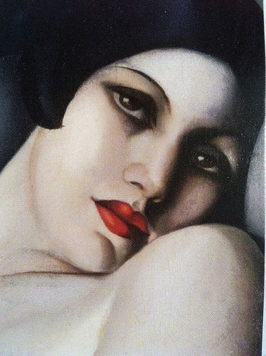 Tamara de Lempicka: The Dream, detail - 1927  - Oil on canvas - 81x60cm. - Collection of Mrs. Àntonia Schulman