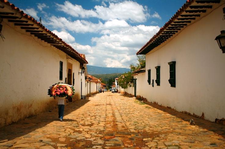 Streets of Villa de Leyva, Colombia.