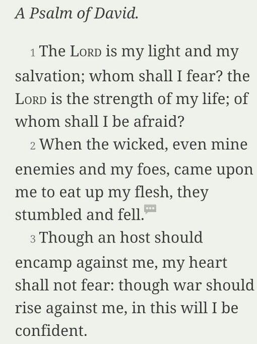 Psalm 27:1- 3 KJV
