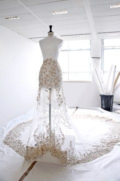 FOR THE BRIDE FROM THE RUNWAY || The making of a couture wedding dress: step inside the Ralph & Russo Atelier || NOVELA BRIDE...where the modern romantics play & plan the most stylish weddings... www.novelabride.com (instagram: @novelabride)