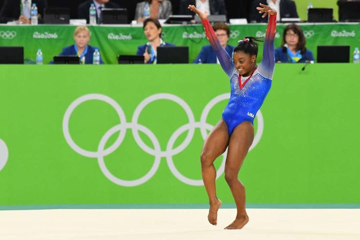 Simone Biles (USA) competes during to the women's floor exercise final in the Rio 2016 Summer Olympi... - Robert Deutsch-USA TODAY Sports