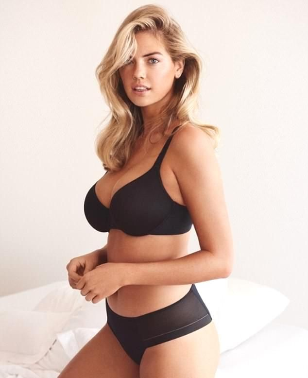 94ade47bfc45d Kate Upton strips off clothes for shows black Bra and Underwear for Yamamay  photoshoot #kateupton #GoodFriday #NeverNotLoveYouTomorrow ...