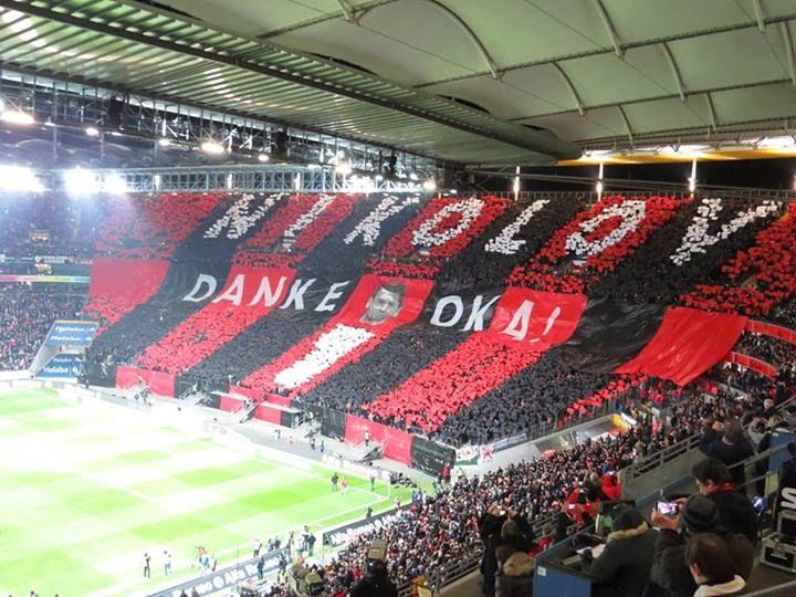 Eintracht Frankfurt Choreo Saison 2013/14 SGE-Augsburg  DANKE OKA!