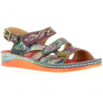 New in from quirky brand Laura Vita are these ladies Bruel sandals in rouge multi coloured. Dare to be different in these bold handcrafted sandals made from natural leather which boast comfortable padding and a flexible sole. These brilliantly detailed sandals are sure to make you stand out this summer and they're perfect if you're looking for a dressy holiday look. http://www.marshallshoes.co.uk/womens-c2/laura-vita-womens-bruele-06-rouge-sling-back-velcro-sandals-p4715