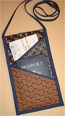 Free Patterns-StudioKat Designs. Passport/airline ticket keeper pattern.