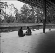 JAPAN. Kyoto. The Zen garden of the Temple of Ryoanji. 1951.