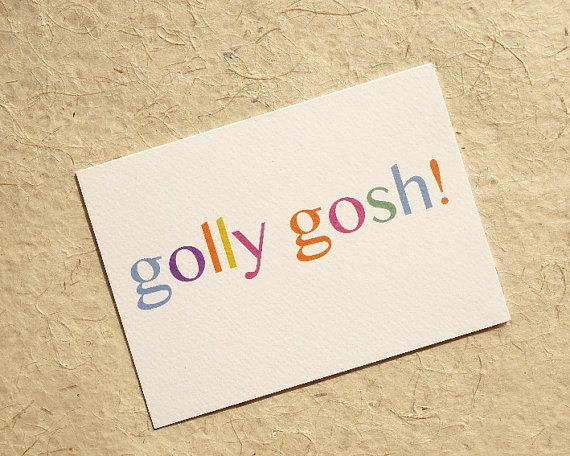 Good news greeting card, golly gosh card set, well done card, surprise card, congratulation card, passed exams, notecard pack, good news