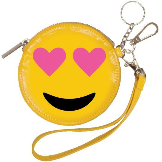 Emoji Heart Eyes Purse Keychain