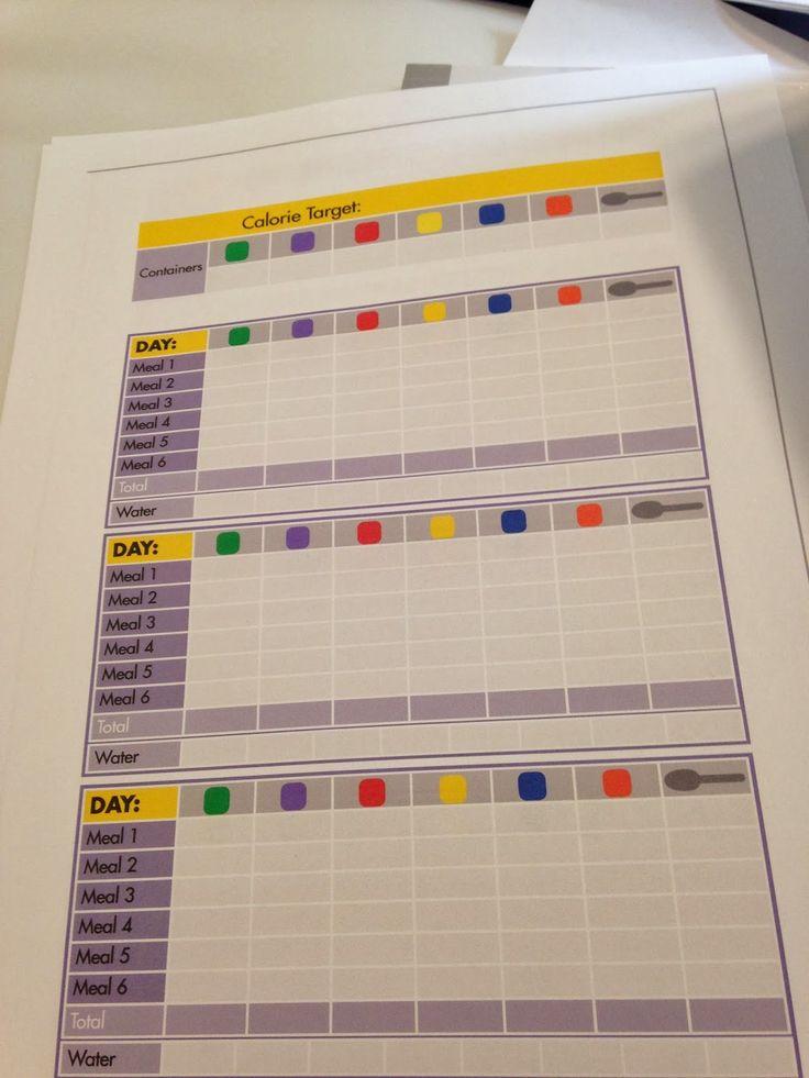 21 Day Fix Tracking Sheets www.melaniemitro.com