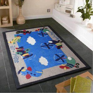 Wish to buy Zoomania Air Plane Blue Children's Area Rug