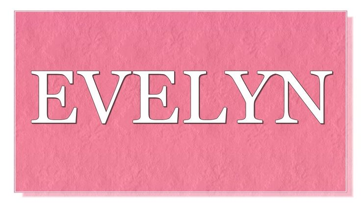 Meaning of the name Evelyn. What is the meaning of the name Evelyn? What are lucky colors for Evelyn? What are lucky days for Evelyn? What are lucky professions for Evelyn? How special is Evelyn? You will find answers to these questions in this movie. We collected the fun facts about the name Evelyn.
