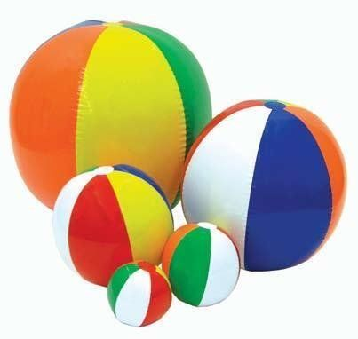 Champion Sports 24in Multicolored Beach Ball by Champion Sports. $3.29. The Champion Sports Multi-Colored Beachball comes in many different diameters. It's great for the beach, pool, classroom, or stadium bleachers. Just blow it up, and start having fun.