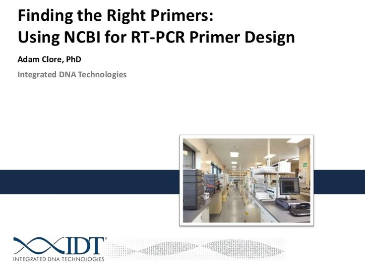 finding-the-right-primers-using-ncbi-for-rtpcr-primer-design by Integrated DNA Technologies via Slideshare