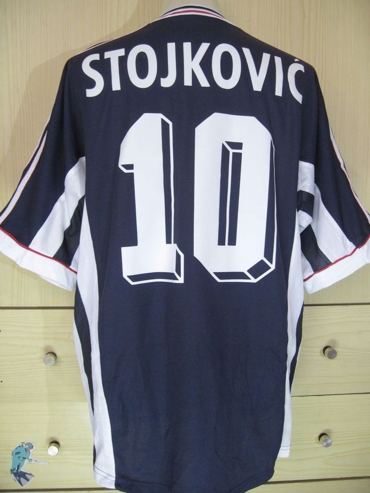 STOJKOVIC YUGOSLAVIA WORLD CUP 1998 ADIDAS FOOTBALL PLAYER ISSUE SHIRT VINTAGE L in Sports Mem, Cards & Fan Shop, Fan Apparel & Souvenirs, Soccer-National Teams | eBay