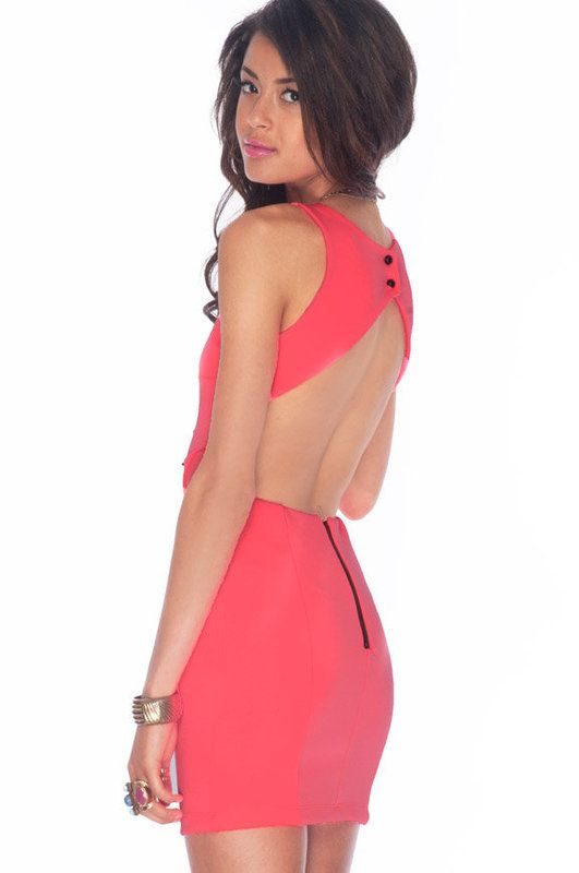 Cali Cocktail Dress - Neon PInk  Perfection with a jean jacket