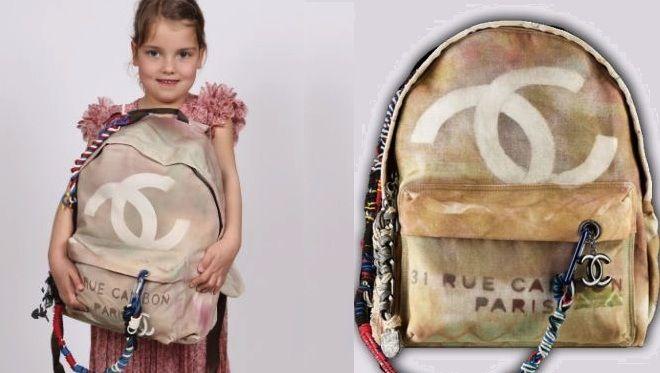 À 5 ans, elle reproduit le sac à dos Graffiti de Chanel