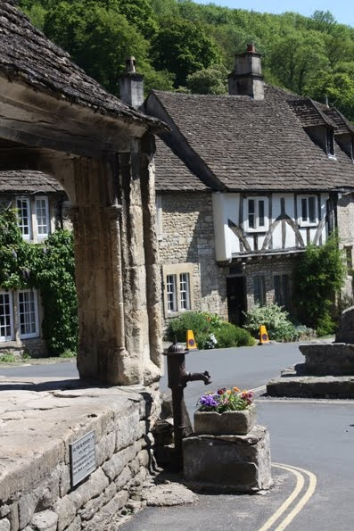 Castle Combe, UK. Small quaint village in Wiltshire, England. Incredible 14th century buildings!!! Population 350 (per Google). High Tea at the  14th century 4 star Manor House Hotel is an incredible experience!!
