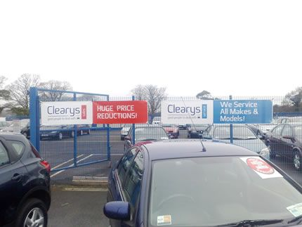 Project: Vinyl banners Client: Clearys of Kiltimagh, Co. Mayo, Ireland.
