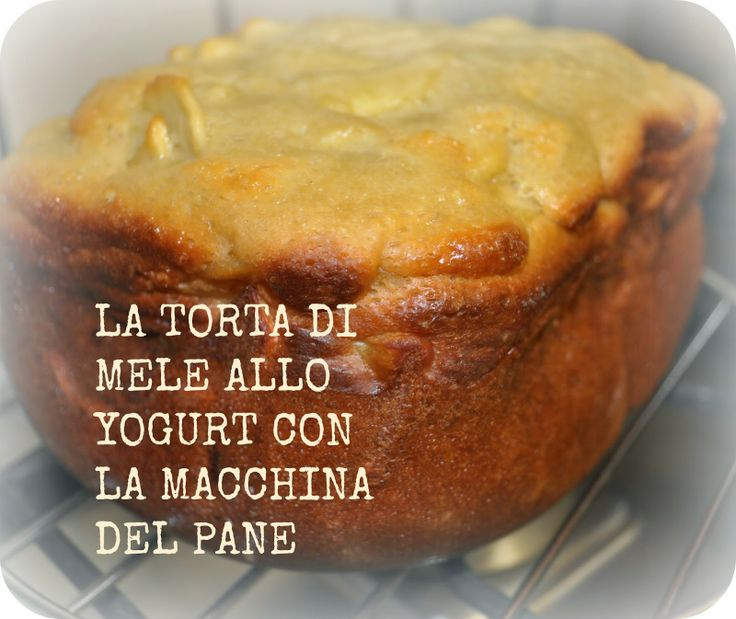 donneinpink: La torta di mele allo yogurt con la macchina del pane