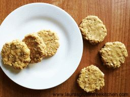 No Bake Peanut Butter Coconut Oatmeal Cookies. A one-bowl recipe for super easy to make peanut butter cookies packed with coconut and oats! Gluten Free, Dairy-Free, Whole Grain and Sugar Free.