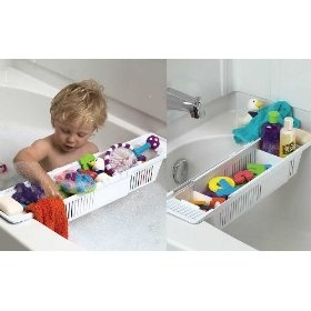 We use these to store bath toys.  Easy for kids to reach, easy to move around, and doesn't have to hang on the wall (and fall off the wall).