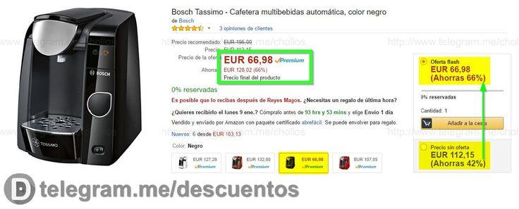 Cafetera Bosch Tassimo por sólo 66 - http://ift.tt/2iQtkHW