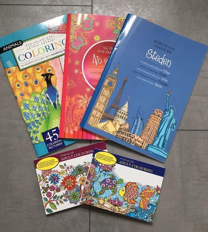 5 Malbuch Malblock Mandala Block Erwachsene Malen Stift Buch Advent Geschenk Neu  | eBay