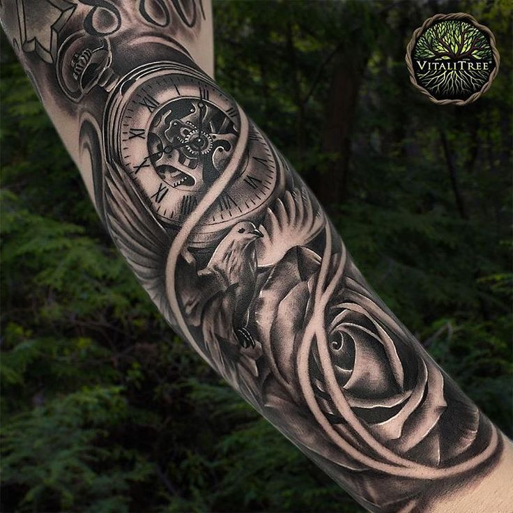 "132 Me gusta, 4 comentarios - VitaliTree Tattoo (@vitalitreetattoo) en Instagram: ""Delicately balanced doves and roses universally remind us of the transient nature of life... Tick,…"""