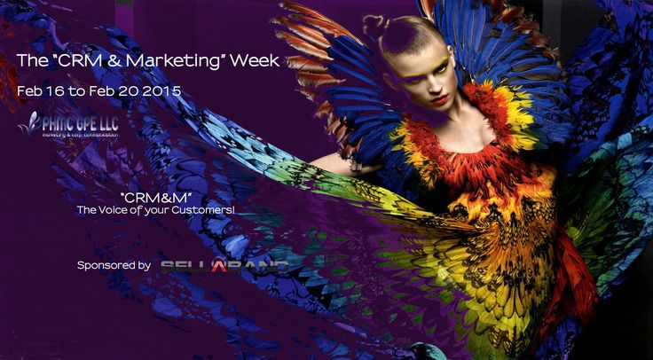 "PHMC GPE LLC & PHMC GPE - L'Observatoire du Marketing are proud to announce ..... The ""CRM & Marketing"" Week Feb 16 to Feb 20 2015 The Voice of your Customers!  In Partnership & Sponsored by Sellaband http://sellaband.com/"