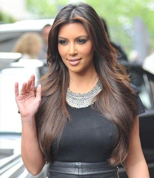 how to get kim kardashian sleek hair