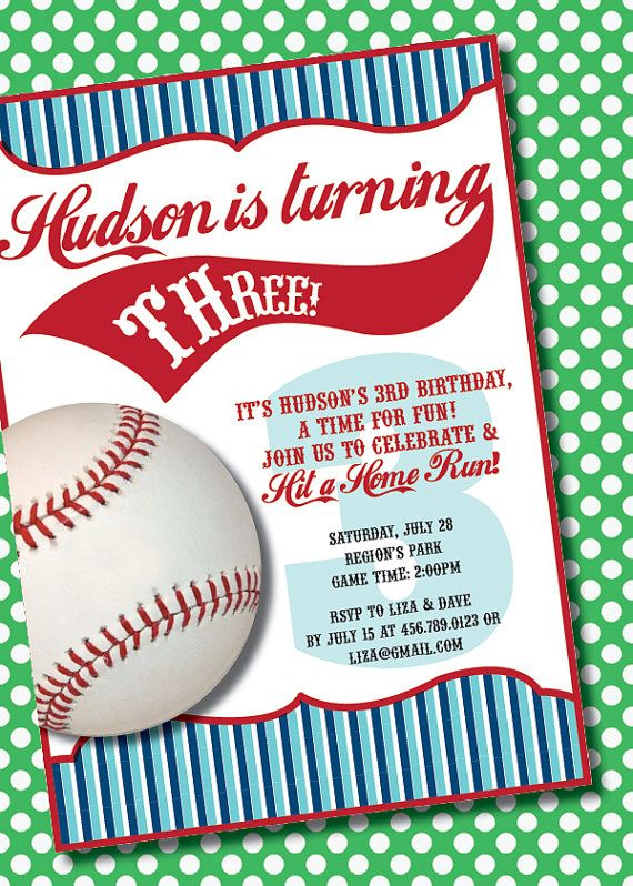 DIY Printable Vintage Baseball Birthday Party by loralangdesigns, $12.50