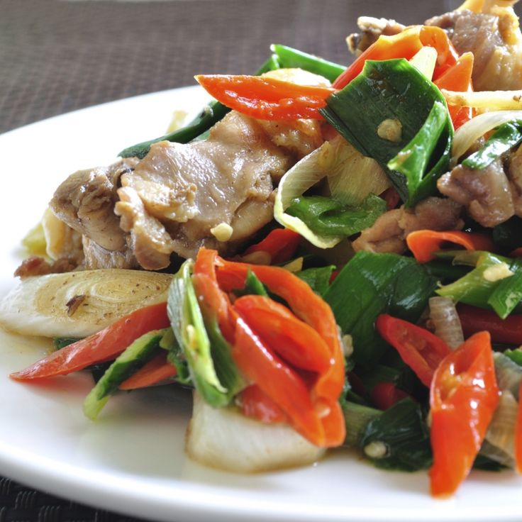 This pork vegetable stirfry recipe is great served with rice or noodles.. Pork Vegetable Stirfry Recipe from Grandmothers Kitchen.