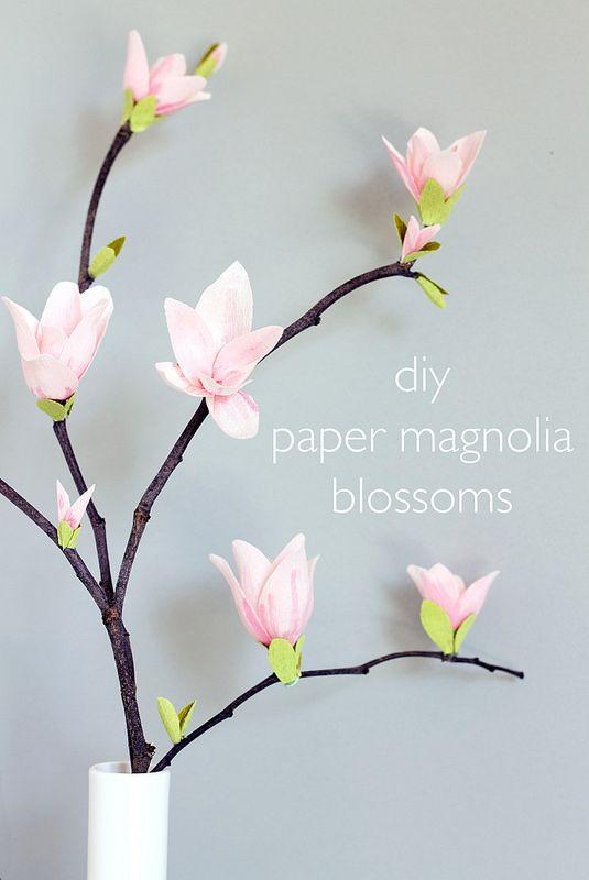 DIY Paper Magnolia Blossoms - Wedding DIY