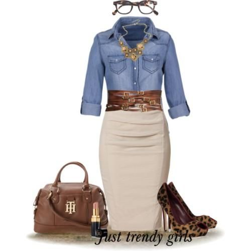 pencil skirt for work Office wear for women  http://www.justtrendygirls.com/office-wear-for-women/