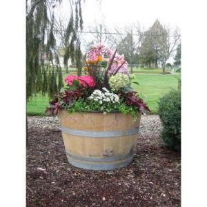 1000 ideas about whiskey barrel planter on pinterest for Wooden barrel planter ideas