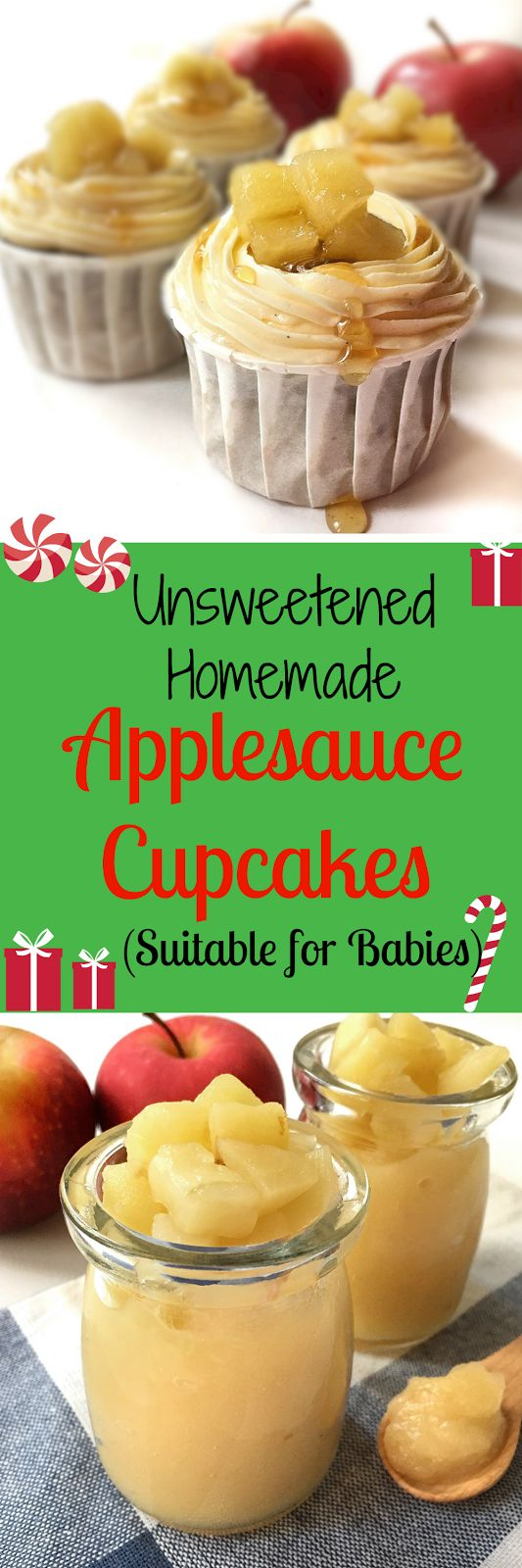 Healthy apple cupcakes ( Suitable for babies) Eggless and no sugar added.
