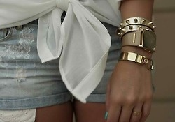 {wrist}: Studs, Gold Spikes, Fashion Style, Jewellery, Stacking Bracelets, Jewelry, Winter Fashion, Jeans Shorts, Gold Accessories