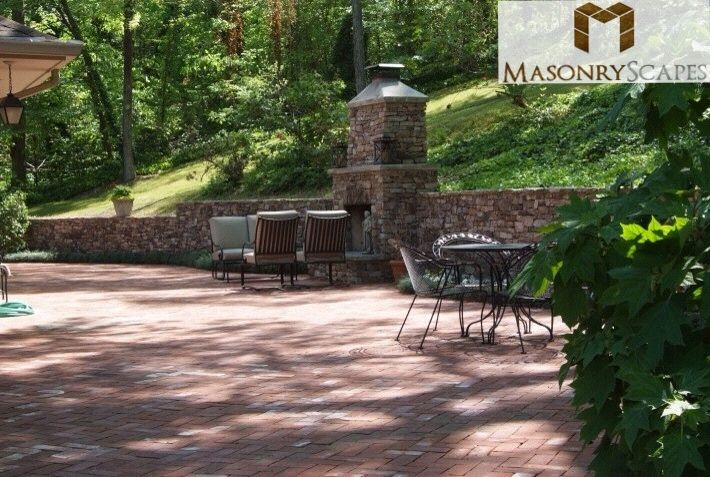 Brick Paver Patio With A Custom Built Natural Stone
