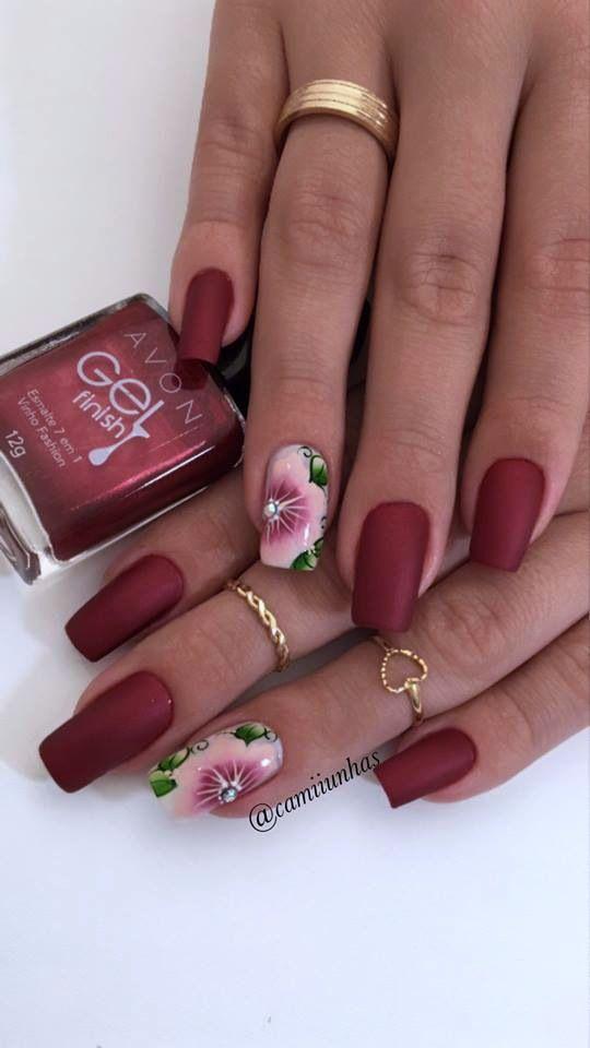 25+ melhores ideias de Unhas decoradas vermelha no Pinterest Unhas vermelhas e brancas, Nail  -> Decoracao Unhas Vermelhas
