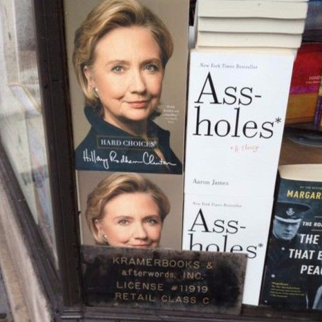 The way Hillary Clinton's book is displayed at this D.C. bookstore is the funniest thing you'll see tonight [photo]