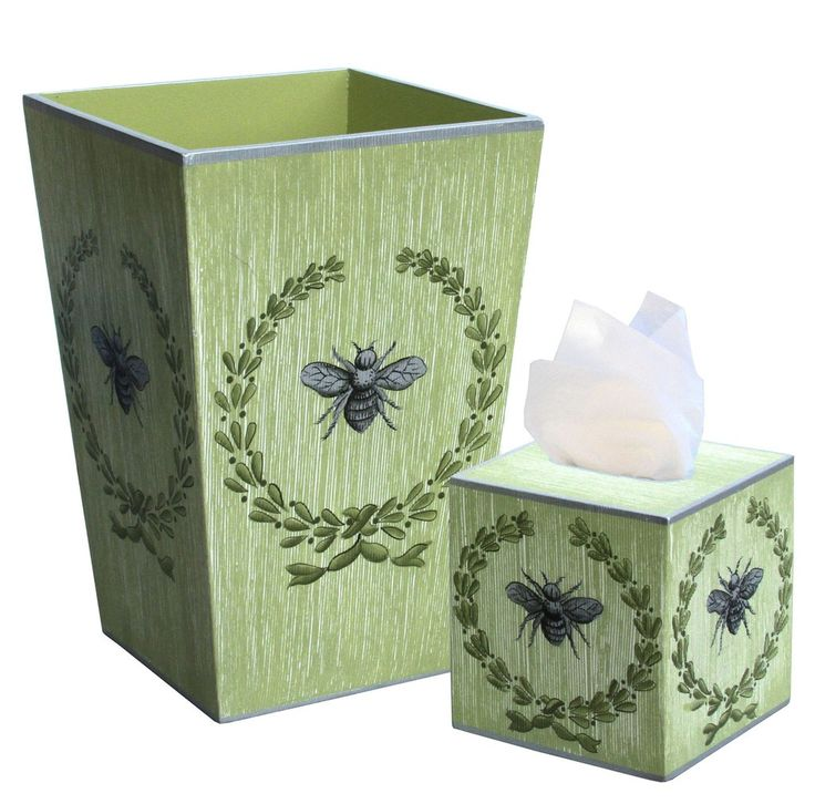 437 best wastebaskets and tissue boxes the well appointed for Bathroom wastebasket sets