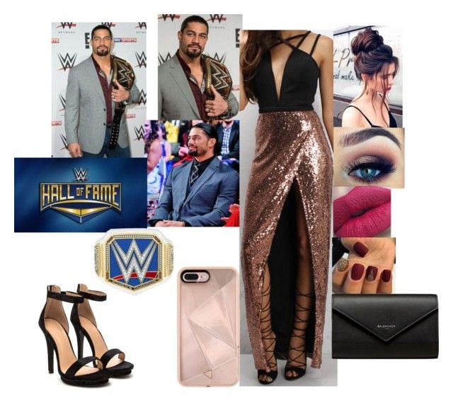 """""""Hall Of Fame With Roman Regina and Dani Bella"""" by safia4life ❤ liked on Polyvore featuring WWE, Rare London, Balenciaga and Rebecca Minkoff"""