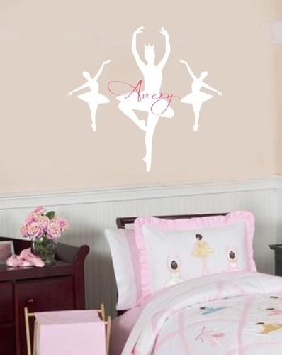 80 best images about girlie girl bedroom on pinterest for Ballerina wall mural