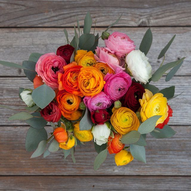 Standout Ranunculus Bouquet Flower Delivery Wedding Flower Arrangements