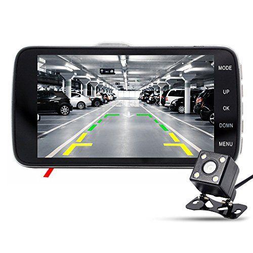 junsun Full HD 1080P Car Dash Cam 170 Degree Wide Angle 4 Inch Dashboard Camera Vehicle Recorder Support Dual LensParking Monitor G-Sensor Loop Recording WDR Night Vision