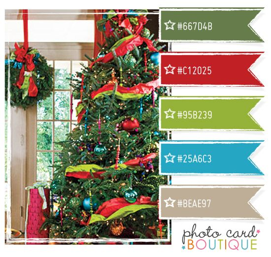 89 best red and turquoise xmas images on pinterest for Christmas tree color schemes